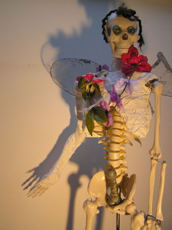 Angela Read Art, SKelly a sculptural assemblage inspired by Mexico's day of the dead